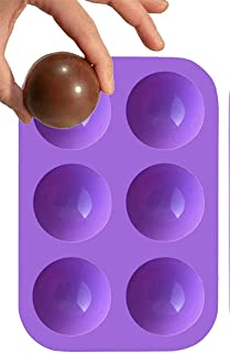 ArtistrySeller Easy Detachable Sphere Circle Silicone Mold Molds Perfect Size For Choco Bombs Hot Chocolate Bomb Coffee Ca...