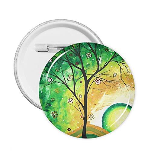 mengmeng Barren Green Paint Botones Insignia 20 PCS M Round Badge Pecho Pin Broche para Chaquetas Sombreros Mochilas Decoración