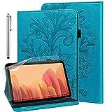 GLANDOTU Hülle für Samsung Galaxy Tab S2 9.7 Zoll (T810/ T813/ T815/ T819) mit Schutzfolie & Stylus Stift - Ultra Dünn Stifthalter Standfunktion Flip Cover PU Leder Hülle(Blau)