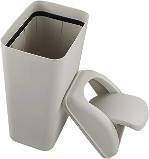 mDesign 2er-Set Tischm/ülleimer mit Schwingdeckel Kosmetikeimer f/ür Abf/älle im Badezimmer praktischer M/ülleimer aus Kunststoff f/ür 2,7 Liter dunkelgrau