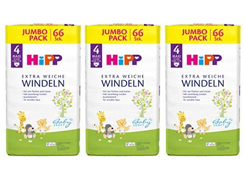 HiPP Babysanft Windeln Maxi Größe 4 im Monats-Pack (198 Windeln)