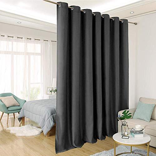 Aufun Vorhänge Blickdicht 2er Set Anthrazit 300 x 245 cm (BxH) Verdunkelungsvorhang ösen Thermovorhang Gardinen Vorhangschal Vorhang mit Ösen für Wohnzimmer Schlafzimmer Büro