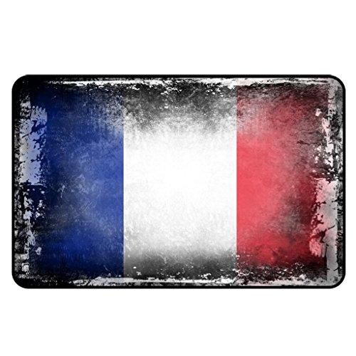 Cadora Magnetschild Kühlschrankmagnet Flagge Frankreich shabby chic abverwendet alt gebraucht