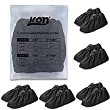 Jron 5 Pairs Premium Reusable Washable Shoe Cover Boot Covers for Contractors (5 Pairs | US 12-14 For Shoes / US 11-13 For Boots, Black)