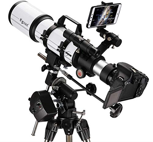ZHTY National Geographic Telescope,80mm Aperture 600mm AZ Mount Astronomical Refracting,Multi-Coated Optics Durable,Portable Travel Telescope with Tripod, and Finders Scope Telescope