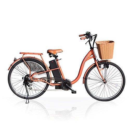 Airbike 電動アシスト自転車 26インチ トルクセンサー式 型式認定モデル 207 (ブラウン)