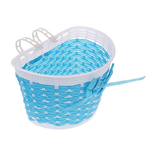 LEIPUPA Kids Bike Basket for 12 14 16 18 inch Girls Bike, Kid s Bicycle Basket Kids Bicycle Accessories - Blue