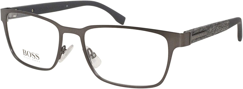 Eyeglasses Boss 2021 Fixed price for sale hub 0986 0RIW Gray Matte Demo 00 Lens