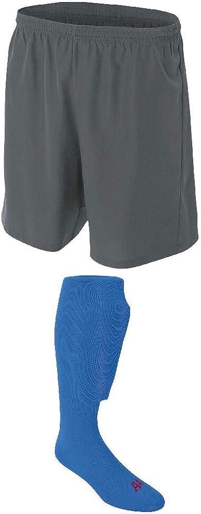 A4 Sportswear Graphite Adult Medium Shorts Soccer Royal Denver Max 83% OFF Mall Socks