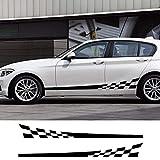 RFGOO Etiqueta engomada del coche auto a cuadros larga raya styling etiqueta cuerpo lado película...
