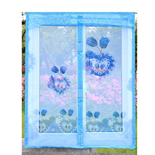 Paravento magnetico per finestra fai da te, in poliestere resistente, adesivo magico anti-zanzare, zanzariera, zanzariera, apertura autosigillante, 120 x 100 cm