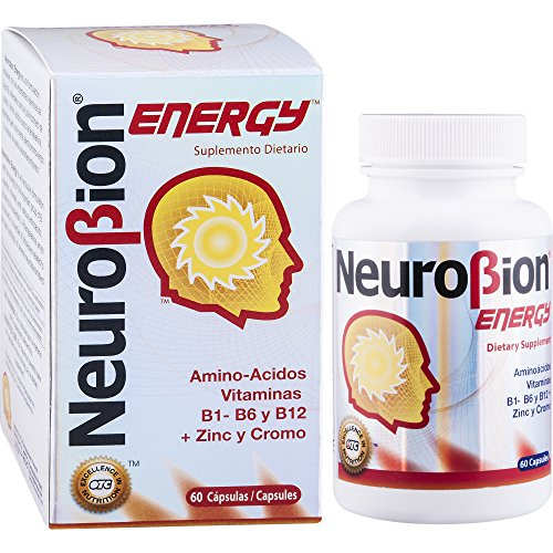 60 Caps Neurobion Energy - Amino Acids Vitamin B1 B2 B6 B12 - Increases Brain Alertness & Stamina