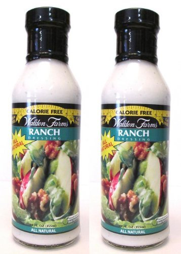 Walden Farms Calorie Free Dressing: Ranch (Pack of 2) 12 oz Bottles