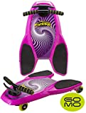 Spinner Shark Drifting Kneeboard – Ride On Scooter Board with Casters for Kids - Boys and Girls (Pink - 1pc)