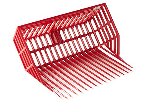 LITTLE GIANT DuraPitch II Pitch Fork Head (Red) Durable Polycarbonate Stable Fork Head with Basket Design (13 in Tines) (Item No. DP201RED)