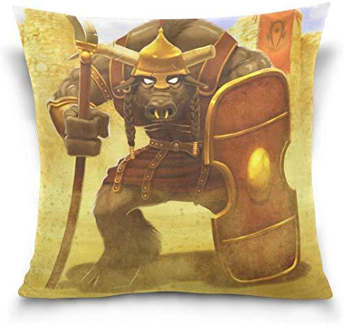 World of Warcraft Tauren Fundas de almohada Fundas de almohada decorativas...