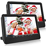 WONNIE 10.5'' Dual Screen DVD Player Portable Headrest CD Players for Kids with 2 Mounting Brackets Built-in 5 Hours...
