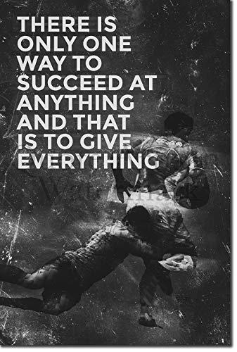 Introspective Chameleon (B&W) Rugby Motivational Poster 10