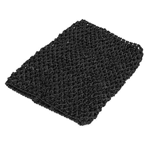 OTGO Baby Girls Crochet Tube Elastic Waistband Headband Tutu Skirt Costume 6''/9'/12' (6', Black)