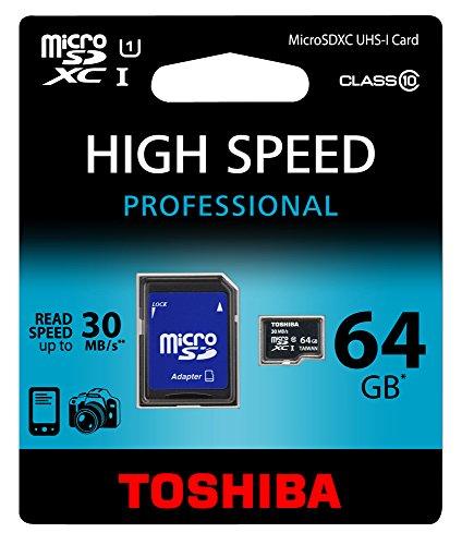 Toshiba SD-C064UHS1BL5A microSDXC 64GB Speicherkarte (Class 10, UHS-1)
