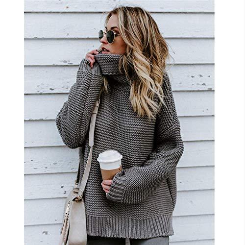 SUNMM Winter Sweater dames coltrui gebreide trui lange mouwen grote maat los Top