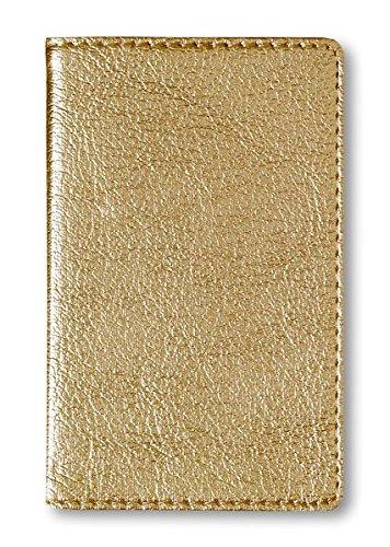 Adressbuch Mini Glamour Gold - Notizbuch / Taschenplaner (6,5 x 10,5) - 112 Seiten