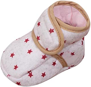 [プタス] 赤ちゃん靴 ファーストシューズ 星柄 女の子 男の子 新生児 やわらかい 足保護 歩行練習 履き心地いい 軽量 出産お祝いプレゼント ギフト ベビーシューズ