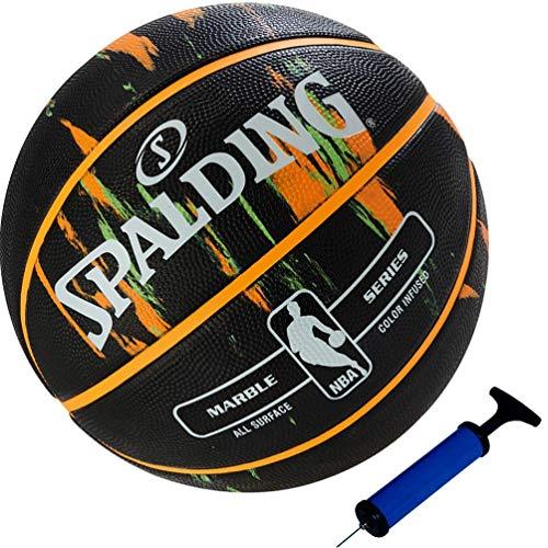 Spalding NBA - Balón de baloncesto (talla 7, incluye bomba para balón), color negro