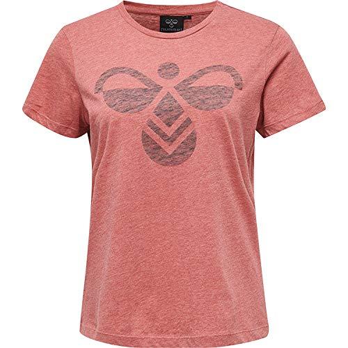 Hummel dam t-shirt Hmlfauna t-shirt S/S Mineral Red Large