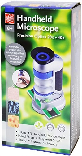 Elenco EDU-37674, Edu-Science 20x, 40x Handheld Pocket-Sized Microscope, Pack of 50 pcs