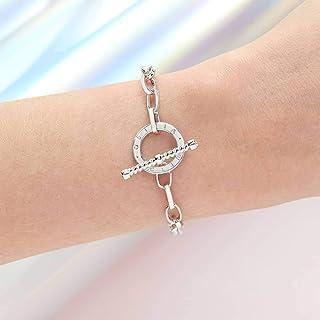 Olivia Burton Women'S Brass Silver Chain Bracelets -OBJCOB22