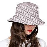 Chapeau bob en polyester, style asiatique, thème beauté et traitement de la peau avec femme et bambou, chapeau à large bord pour femme, homme, adolescent - - Taille Unique