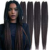 6 Packs/Lot (14/18/24/30) inch 1cm 20 Strands/Pack Thin 3X Box Braid Crochet Hair Extensionin Diameter 3X Synthetic Braid Hair Extensions Crochet Braids Hair Color(18Inch T1B/33)