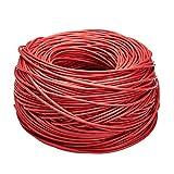 Amazon Basics - Bobina di cavo ethernet Cat6, (23AWG, UTP), 304,8 metri, Rosso...