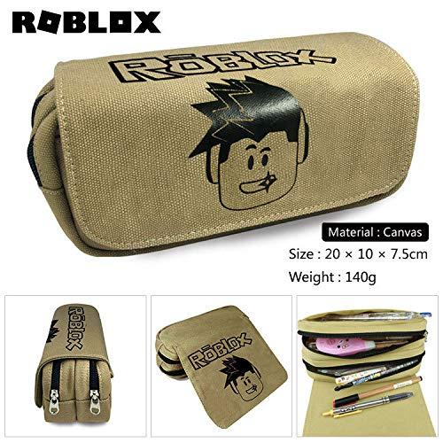 Virtuelle Welt Briefpapier Box Sandbox Spiel Leinwand Reißverschluss Federmäppchen Game-Rbx Federmäppchen Aufbewahrungstasche-D