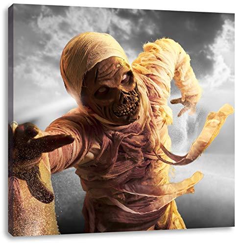 hongerige mummie aanvallenCanvas Foto Plein | Maat: 40x40 cm | Wanddecoraties | Kunstdruk | Volledig gemonteerd