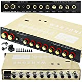 Warzone EQ6700 1/2 Din 7 Band Car Audio Equalizer EQ w/Front, Rear + Sub Output, Up to 7V RMS of Output, Gold-Plated RCA connectors for Best Audio Output for Car, Boat, RV, RTV, Motorcycle