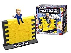 """""""Build That Wall"""" - Humpty Dumpty President Trumpty sits on a wall, Humpty Dumpty President Trumpty had a great fall Push out all the bricks but don't let the president fall! Build the Wall & Knock it Down! Includes: 1 President Donald Trump Figurine..."""