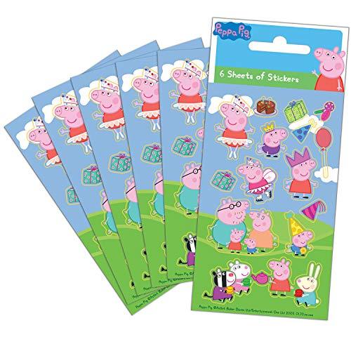 Paper Projects 01.70.15.035 Peppa Pig - Juego de pegatinas (6 hojas)