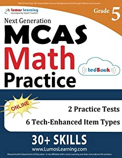 MCAS Test Prep: 5th Grade Math Practice Workbook and Full-length Online Assessments: Next Generation Massachusetts Comprehensive Assessment System Study Guide