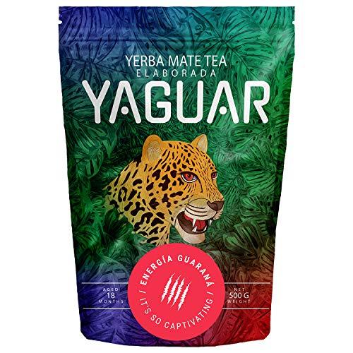 Yerba Mate Yaguar Energia Guarana 500g | Yerba Mate Tee mit Früchten | Mate Tee sehr reich an Koffein | Hohe Qualität | Glutenfrei | Extra starke Stimulation