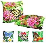JACK Outdoor Lounge Kissen 45x45cm Motiv Dekokissen Schmetterling Wasserfest Sitzkissen