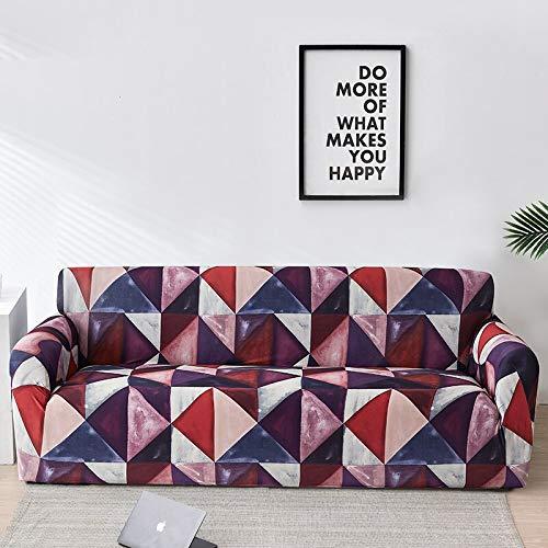 WXQY Funda de sofá geométrica elástica para Sala de Estar, Funda de sofá Antideslizante elástica Moderna, Funda de sofá para Silla A32 2 plazas