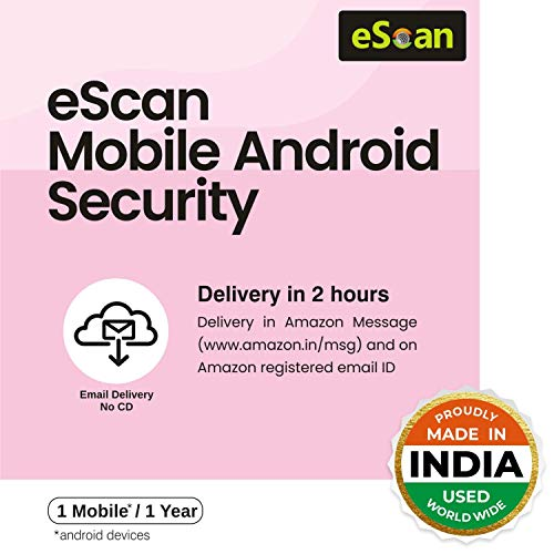 eScan 1 User 1 Year Mobile Android Security (Email Delivery - No CD)