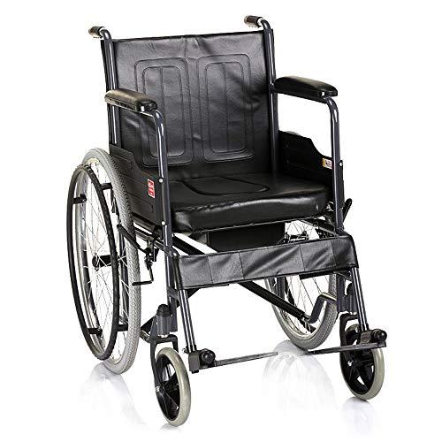 Rolstoelen Rolstoel Propelled Rolstoel Handleiding Rolstoel - Vouwen Lichtgewicht Zelfrijdend Transport Reizen Comfortabele Rolstoel Draagbaar Met Remmen, Verstelbaar Pedaal