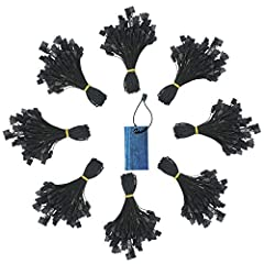 What You will Get:The package comes with 1500pcs disposable black hang tag fasteners,black color is a basic color,so that can match the most products and looks good,the large quantity can meet various daily needs. Premium Quality:These strings of lab...