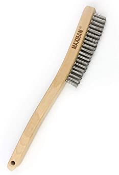 Wood Handle Wire Brush Stainless Steel Paint Remove Rust Brushes Cleaning Tools.