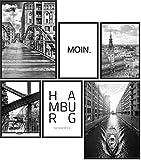 Papierschmiede® Premium Poster Set Hamburg | 6 Bilder als