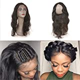 8A Remy Malaysian Virgin Hair Body Wave 360 Lace Frontal Closure 22'4'2' 360 Lace Frontal Pre Plucked Frontal With Baby Hair (18')