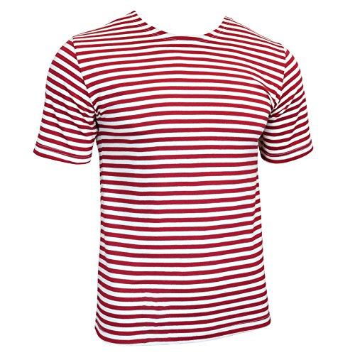 Russisches Militär Baumwoll-T-Shirt Roten Streifen (Large, rot gestreift)